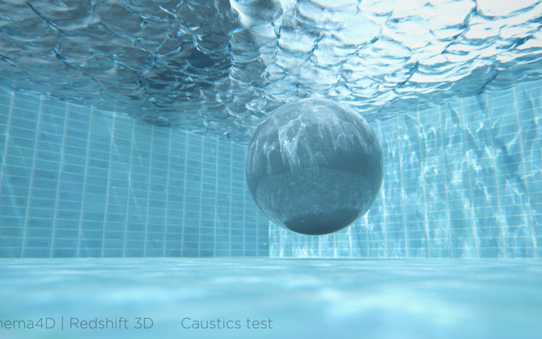 Redshift 3D render caustics